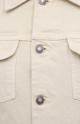 Мужская джинсовая куртка TOM FORD светло-бежевого цвета, арт. BWJ32/TFD116 | Фото 5