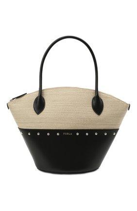 Женский сумка-тоут furla share FURLA черного цвета, арт. WB00237/A.0454   Фото 1