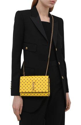 Женская сумка monogram kate small SAINT LAURENT желтого цвета, арт. 469390/2Q80W   Фото 2