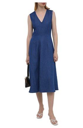 Женское платье 7 FOR ALL MANKIND синего цвета, арт. JSCBB090S0   Фото 2