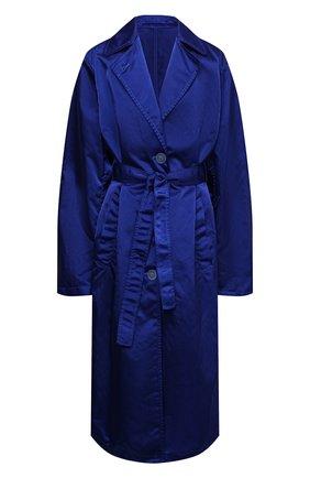 Женский плащ DRIES VAN NOTEN голубого цвета, арт. 211-10240-2171 | Фото 1