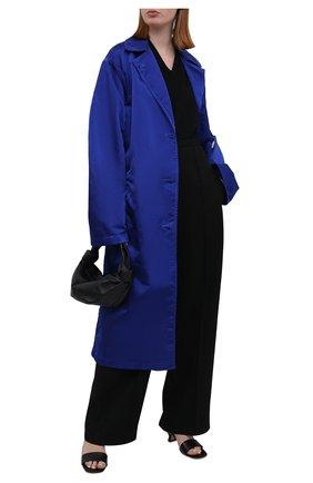Женский плащ DRIES VAN NOTEN голубого цвета, арт. 211-10240-2171 | Фото 2