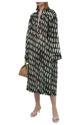 Женская хлопковая туника DRIES VAN NOTEN зеленого цвета, арт. 211-11049-2001   Фото 2