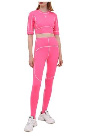 Женский топ ADIDAS BY STELLA MCCARTNEY розового цвета, арт. GL7377   Фото 2