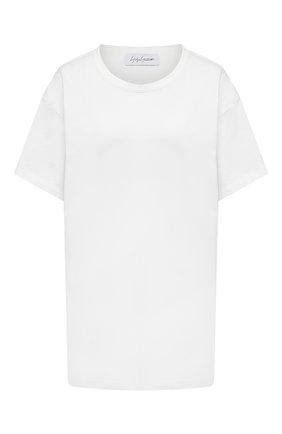 Женская хлопковая футболка YOHJI YAMAMOTO белого цвета, арт. FD-T06-072   Фото 1