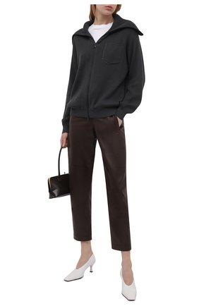 Женский хлопковый кардиган BRUNELLO CUCINELLI темно-серого цвета, арт. M19179116P   Фото 2