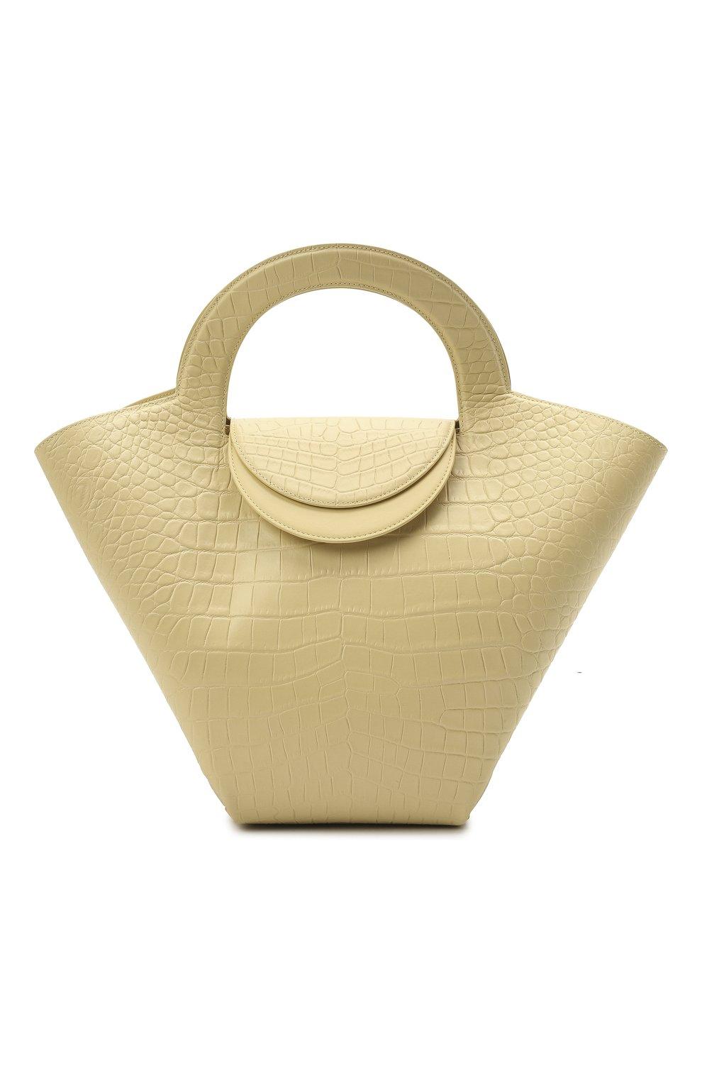 Женский сумка-тоут doll large BOTTEGA VENETA желтого цвета, арт. 658516/VA450 | Фото 1