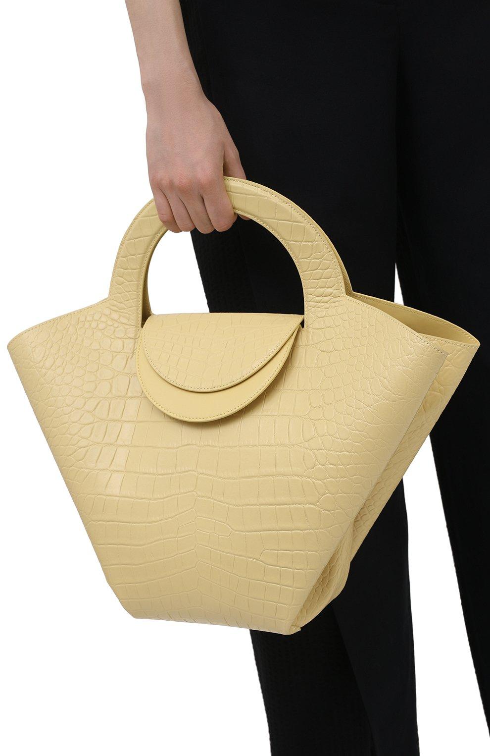Женский сумка-тоут doll large BOTTEGA VENETA желтого цвета, арт. 658516/VA450 | Фото 2