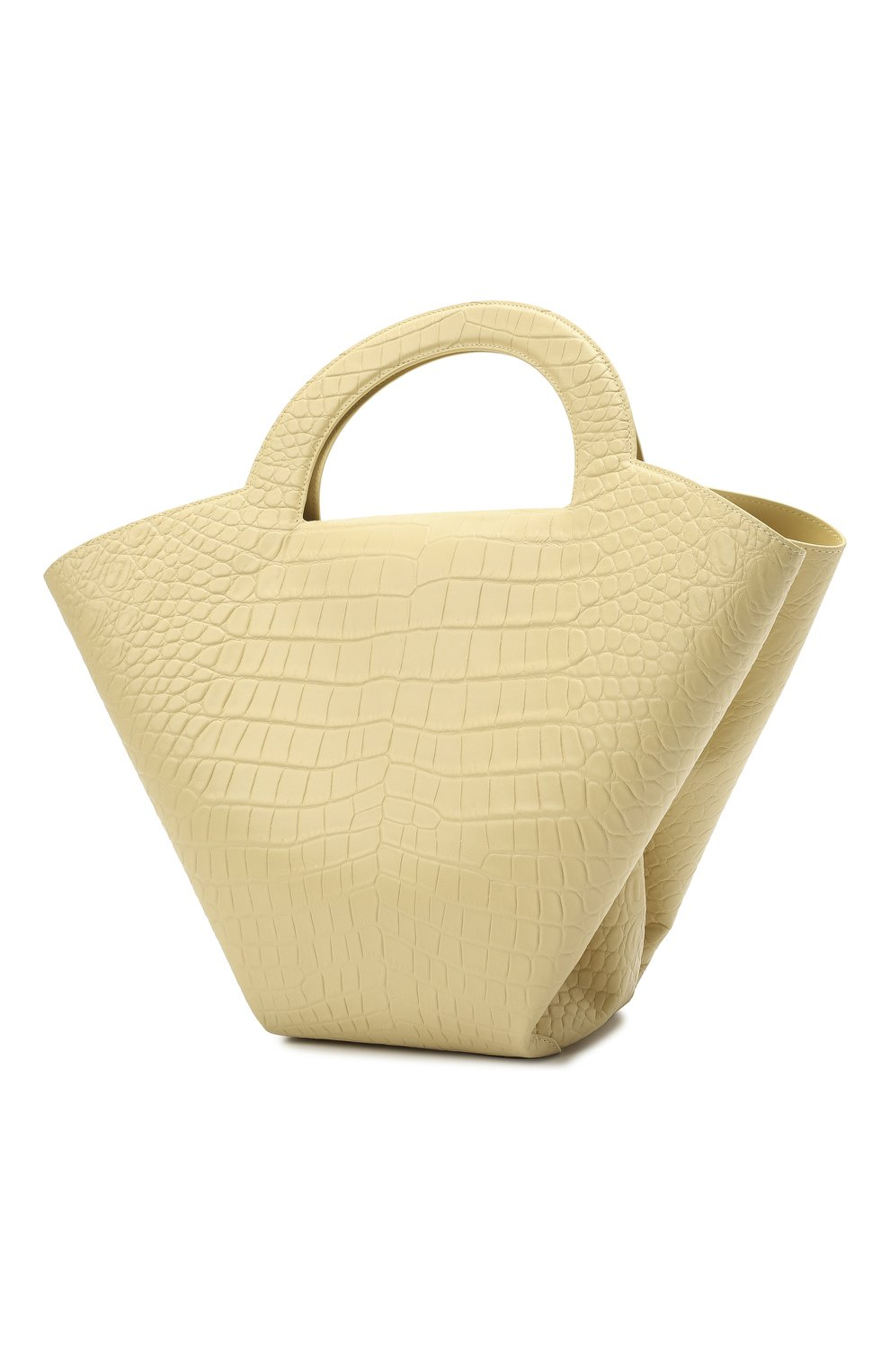 Женский сумка-тоут doll large BOTTEGA VENETA желтого цвета, арт. 658516/VA450 | Фото 3
