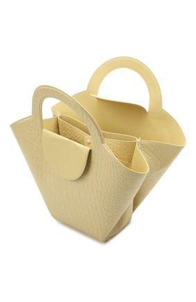 Женский сумка-тоут doll large BOTTEGA VENETA желтого цвета, арт. 658516/VA450 | Фото 4