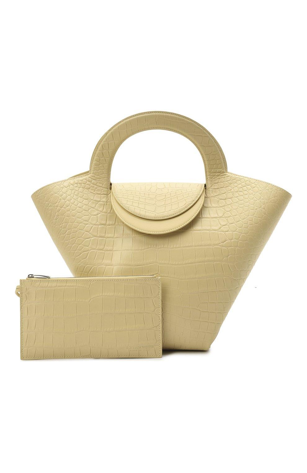 Женский сумка-тоут doll large BOTTEGA VENETA желтого цвета, арт. 658516/VA450 | Фото 5