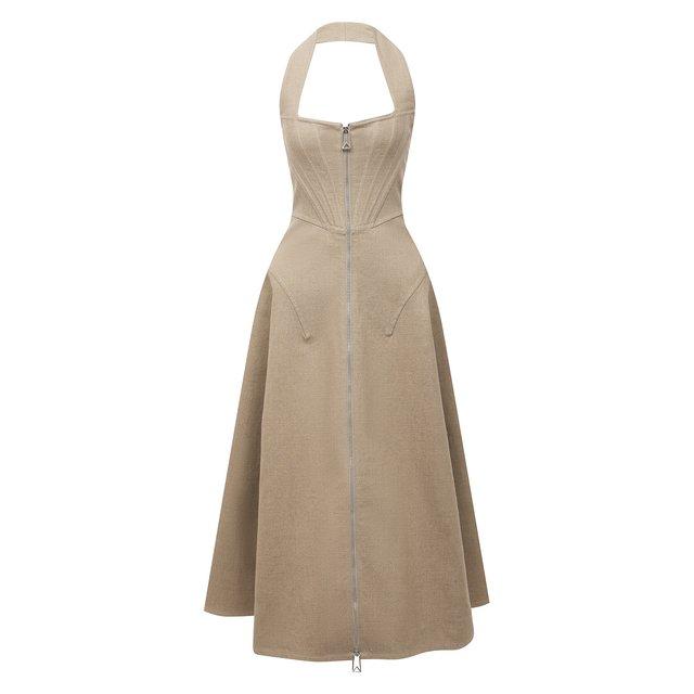 Льняное платье Bottega Veneta
