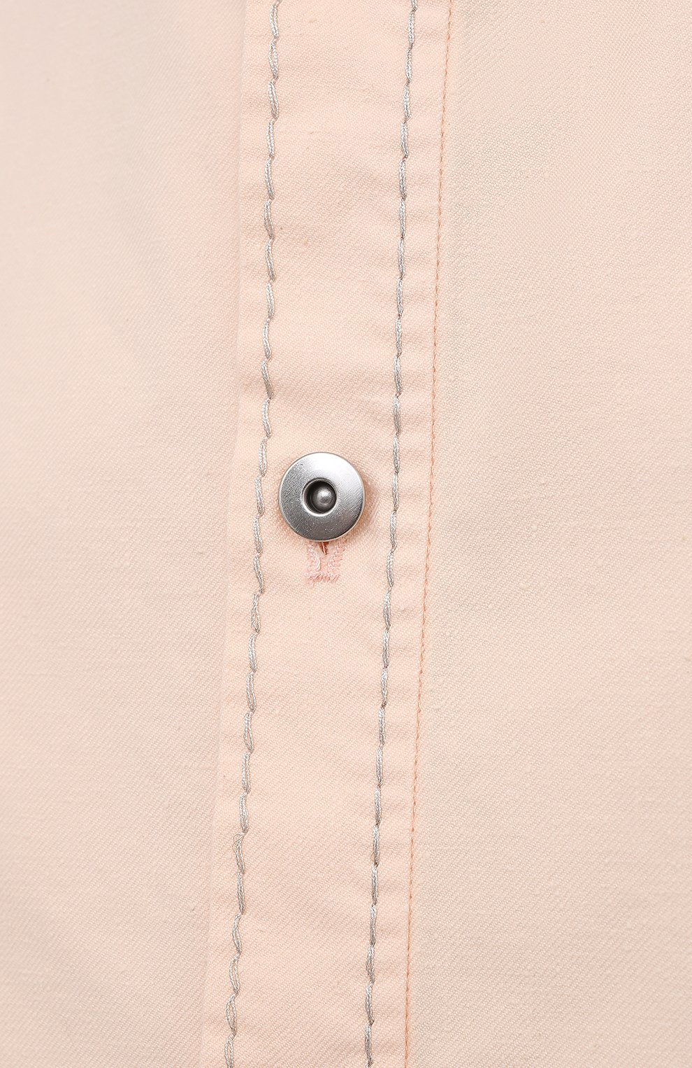 Женская хлопковая рубашка BOTTEGA VENETA светло-розового цвета, арт. 654323/V0W30 | Фото 5