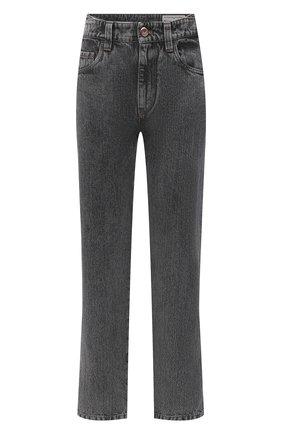 Женские джинсы BRUNELLO CUCINELLI темно-серого цвета, арт. MP095P5595   Фото 1