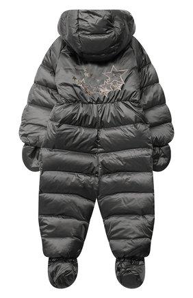 Детский пуховый комбинезон CHEPE серебряного цвета, арт. 391396 | Фото 2