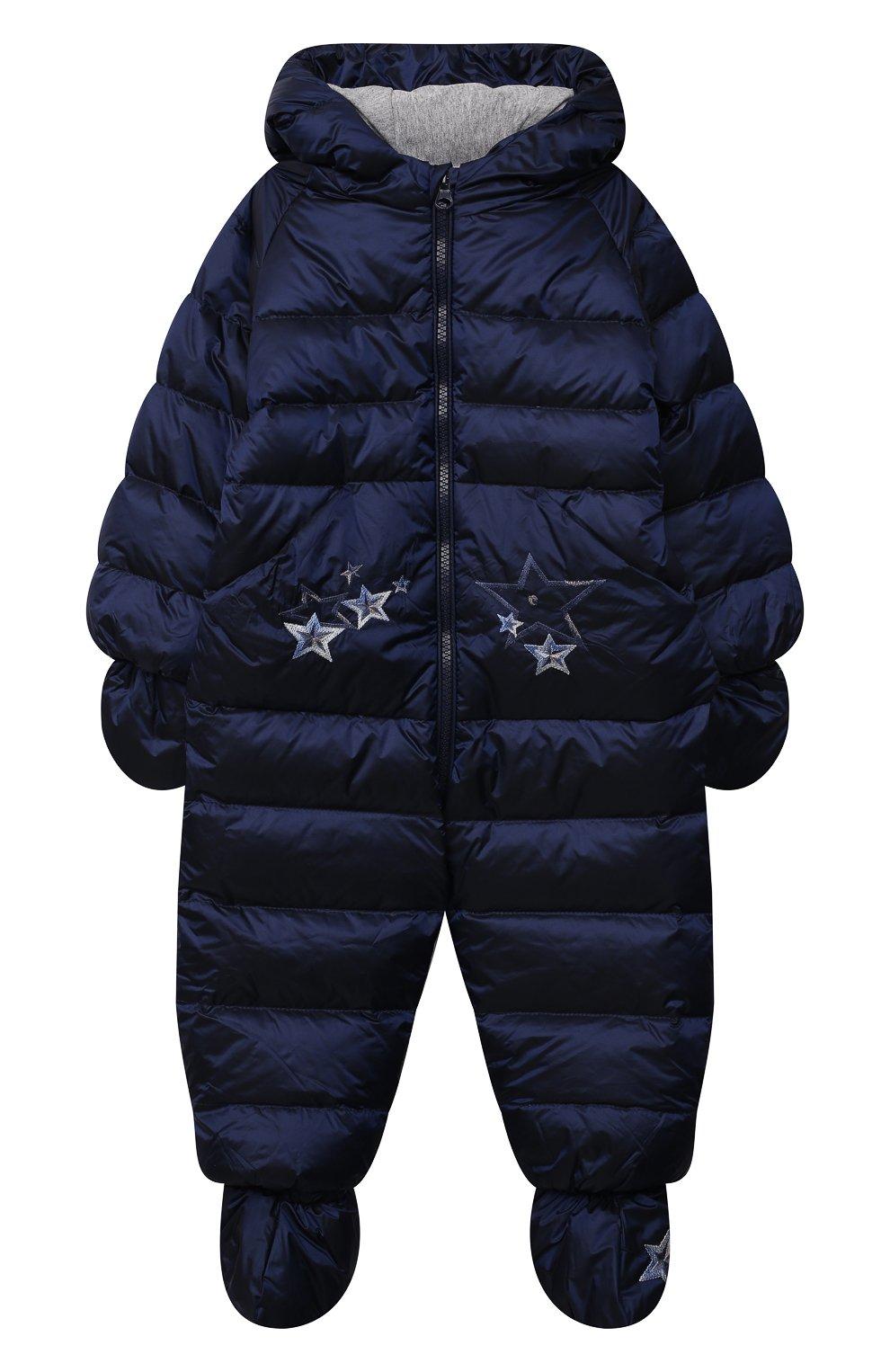 Детский пуховый комбинезон CHEPE синего цвета, арт. 391396   Фото 1