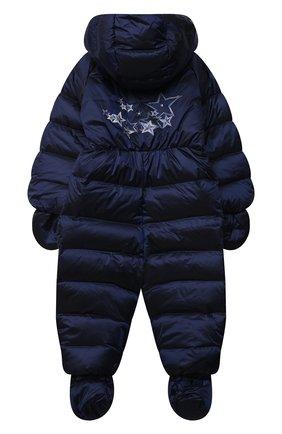 Детский пуховый комбинезон CHEPE синего цвета, арт. 391396 | Фото 2