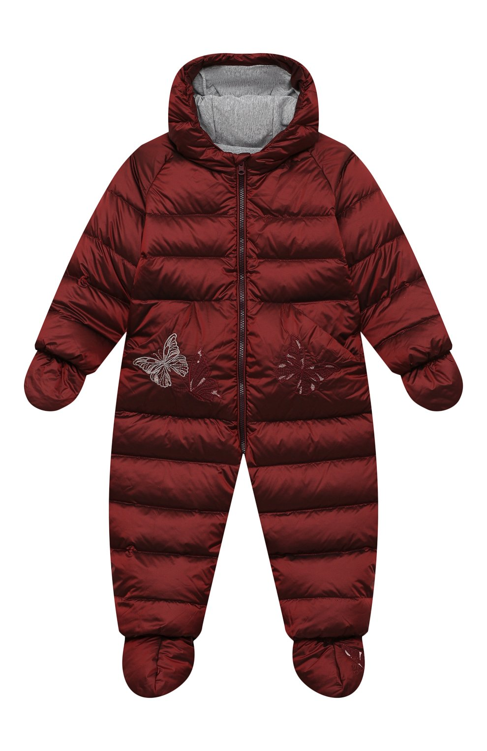 Детский пуховый комбинезон CHEPE бордового цвета, арт. 391394   Фото 1
