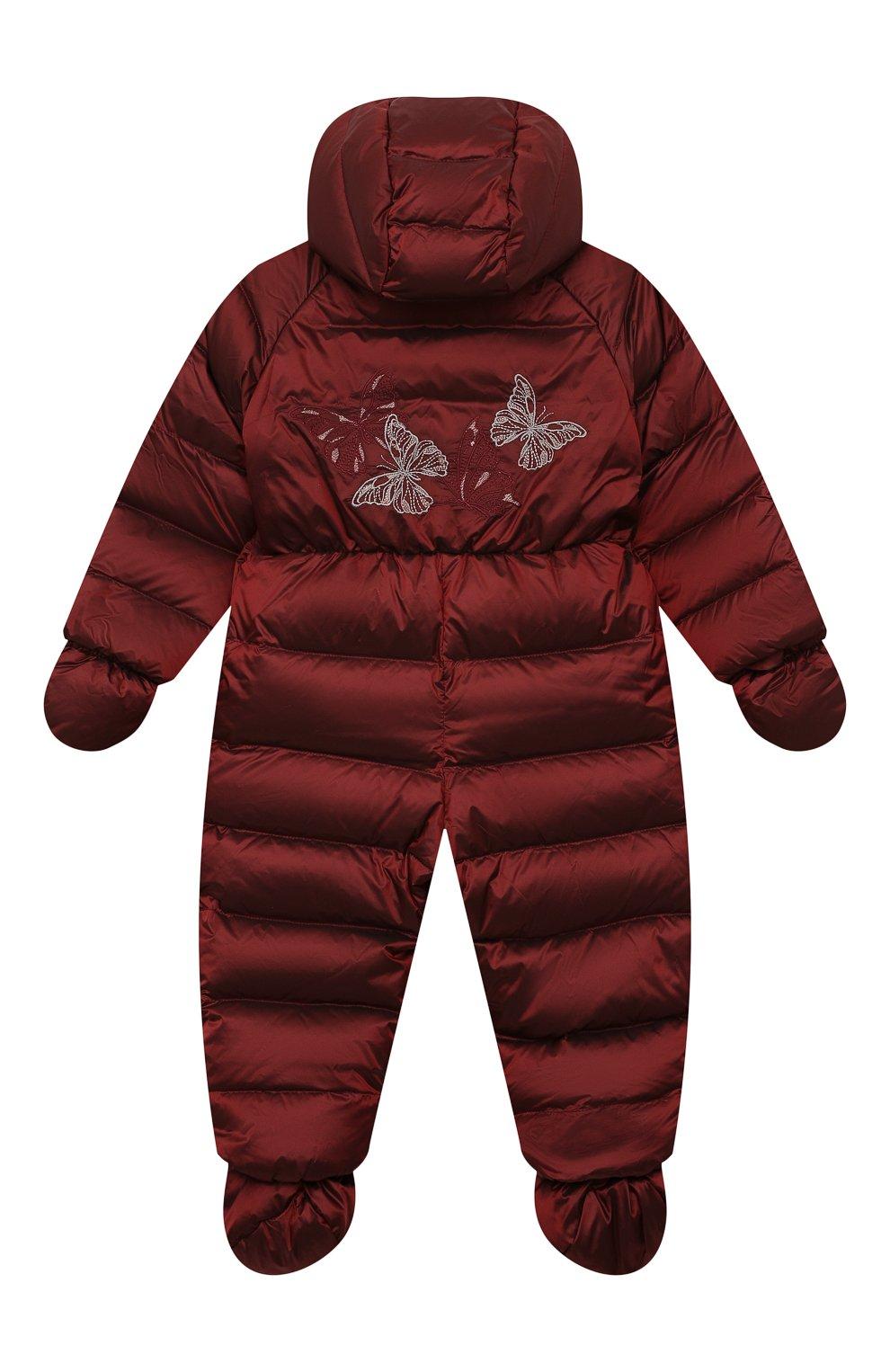 Детский пуховый комбинезон CHEPE бордового цвета, арт. 391394   Фото 2