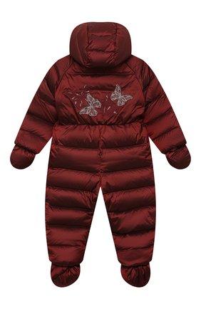 Детский пуховый комбинезон CHEPE бордового цвета, арт. 391394 | Фото 2