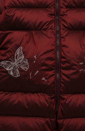 Детский пуховый комбинезон CHEPE бордового цвета, арт. 391394   Фото 3