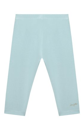 Детские хлопковые брюки LES LUTINS PARIS голубого цвета, арт. 21E357/LEGGING JERSEY | Фото 1