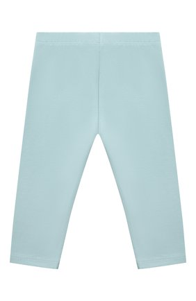 Детские хлопковые брюки LES LUTINS PARIS голубого цвета, арт. 21E357/LEGGING JERSEY | Фото 2