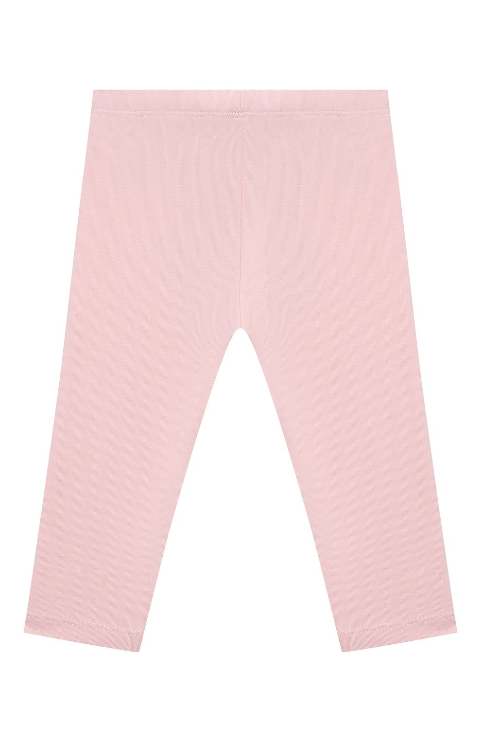 Детские хлопковые брюки LES LUTINS PARIS светло-розового цвета, арт. 21E357/LEGGING JERSEY   Фото 2 (Материал внешний: Хлопок; Ростовка одежда: 9 мес   74 см, 18 мес   86 см, 24 мес   92 см, 3 мес   62 см, 6 мес   68 см)