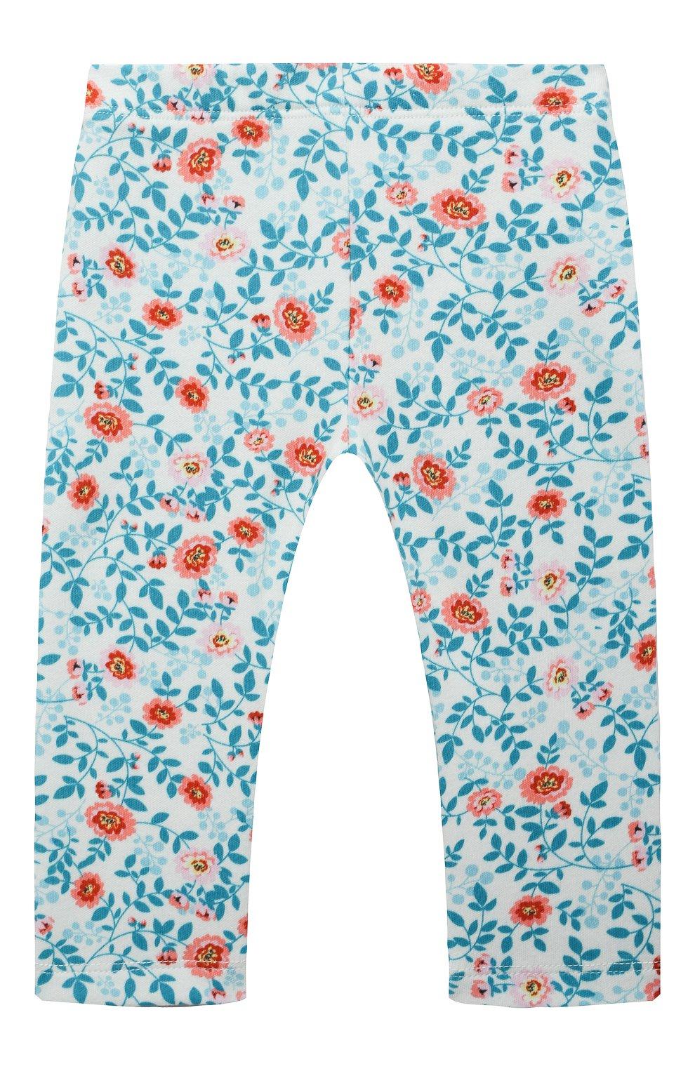 Детские хлопковые брюки LES LUTINS PARIS разноцветного цвета, арт. 21E357/LEGGING JERSEY | Фото 1