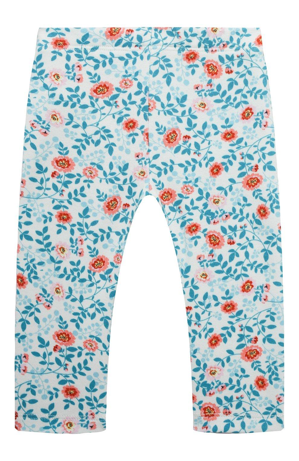 Детские хлопковые брюки LES LUTINS PARIS разноцветного цвета, арт. 21E357/LEGGING JERSEY | Фото 2