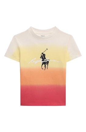 Детская хлопковая футболка POLO RALPH LAUREN разноцветного цвета, арт. 321836715   Фото 1