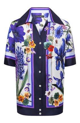 Женская шелковая рубашка DOLCE & GABBANA разноцветного цвета, арт. I5595W/GDZAC | Фото 1