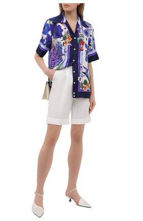 Женская шелковая рубашка DOLCE & GABBANA разноцветного цвета, арт. I5595W/GDZAC | Фото 2