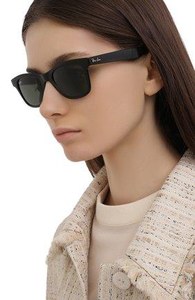 Женские солнцезащитные очки RAY-BAN черного цвета, арт. 4640-601/31 | Фото 2