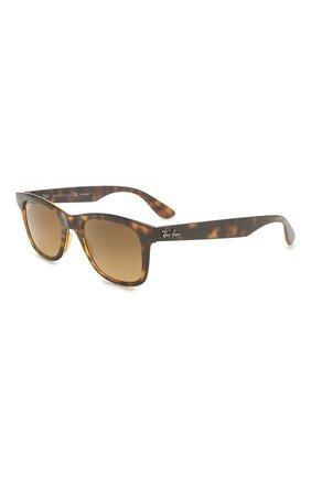 Женские солнцезащитные очки RAY-BAN коричневого цвета, арт. 4640-710/M2 | Фото 1