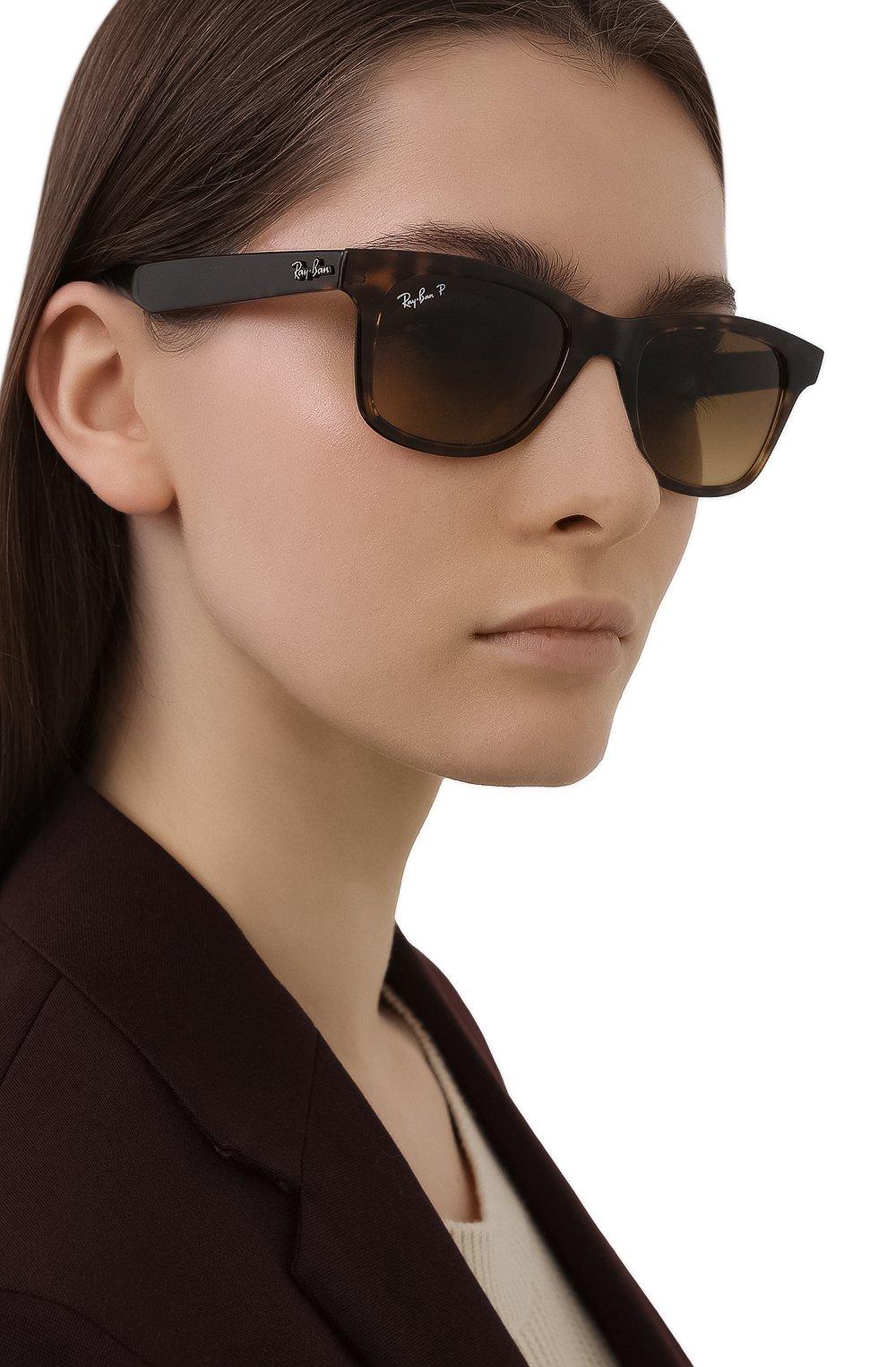Женские солнцезащитные очки RAY-BAN коричневого цвета, арт. 4640-710/M2 | Фото 2