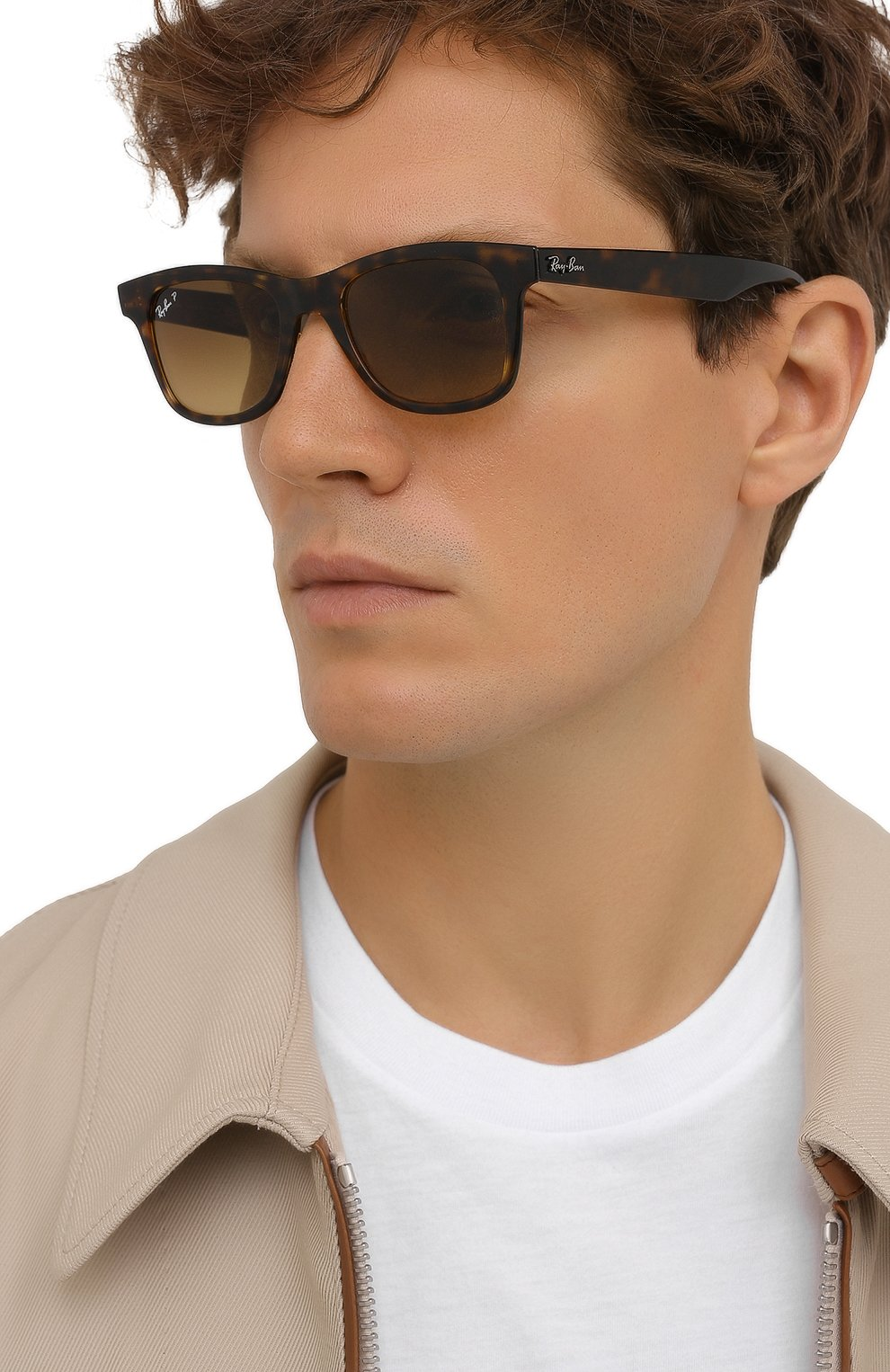 Женские солнцезащитные очки RAY-BAN коричневого цвета, арт. 4640-710/M2 | Фото 3