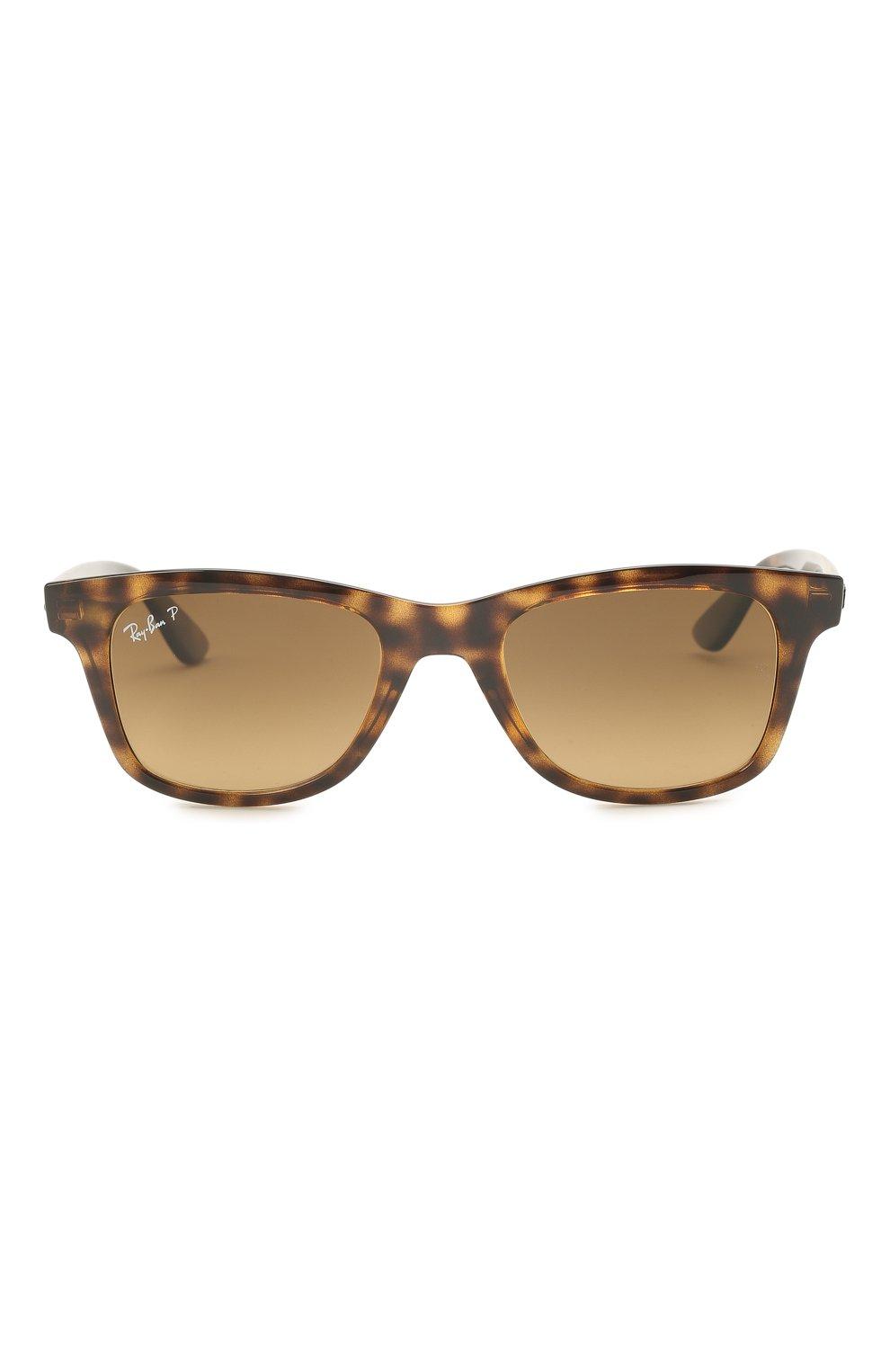 Женские солнцезащитные очки RAY-BAN коричневого цвета, арт. 4640-710/M2 | Фото 4