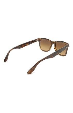 Женские солнцезащитные очки RAY-BAN коричневого цвета, арт. 4640-710/M2 | Фото 5