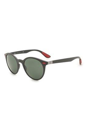 Женские солнцезащитные очки RAY-BAN черного цвета, арт. 4296M-F60271 | Фото 1