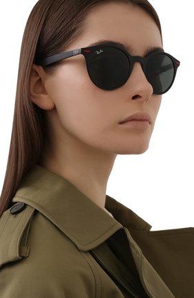 Женские солнцезащитные очки RAY-BAN черного цвета, арт. 4296M-F60271 | Фото 2