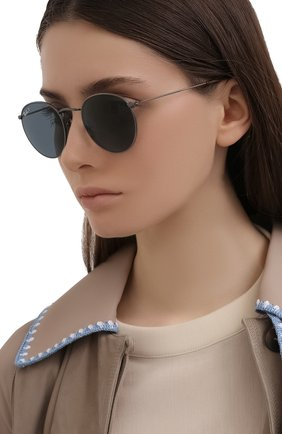 Женские солнцезащитные очки RAY-BAN синего цвета, арт. 8247-9208T0 | Фото 2