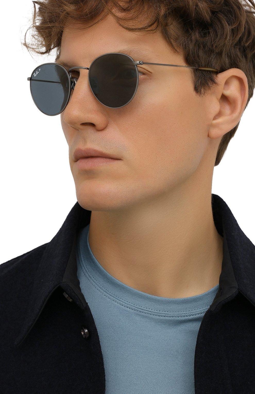 Женские солнцезащитные очки RAY-BAN синего цвета, арт. 8247-9208T0 | Фото 3