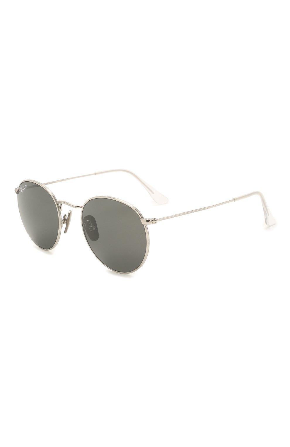 Женские солнцезащитные очки RAY-BAN серебряного цвета, арт. 8247-920948   Фото 1
