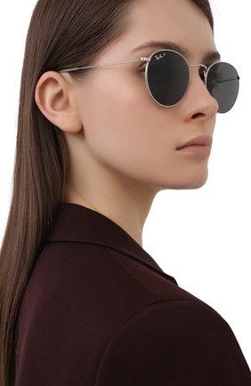 Женские солнцезащитные очки RAY-BAN серебряного цвета, арт. 8247-920948   Фото 2