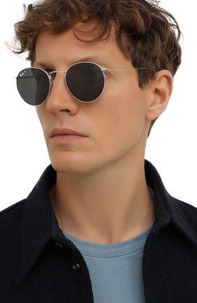 Женские солнцезащитные очки RAY-BAN серебряного цвета, арт. 8247-920948   Фото 3