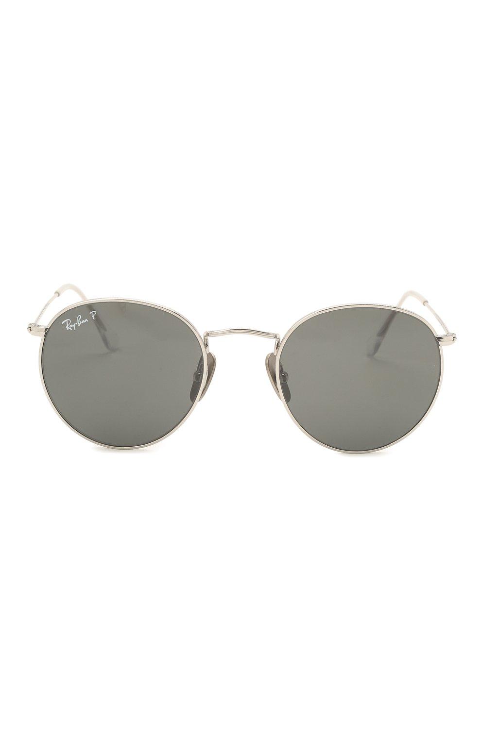 Женские солнцезащитные очки RAY-BAN серебряного цвета, арт. 8247-920948   Фото 4