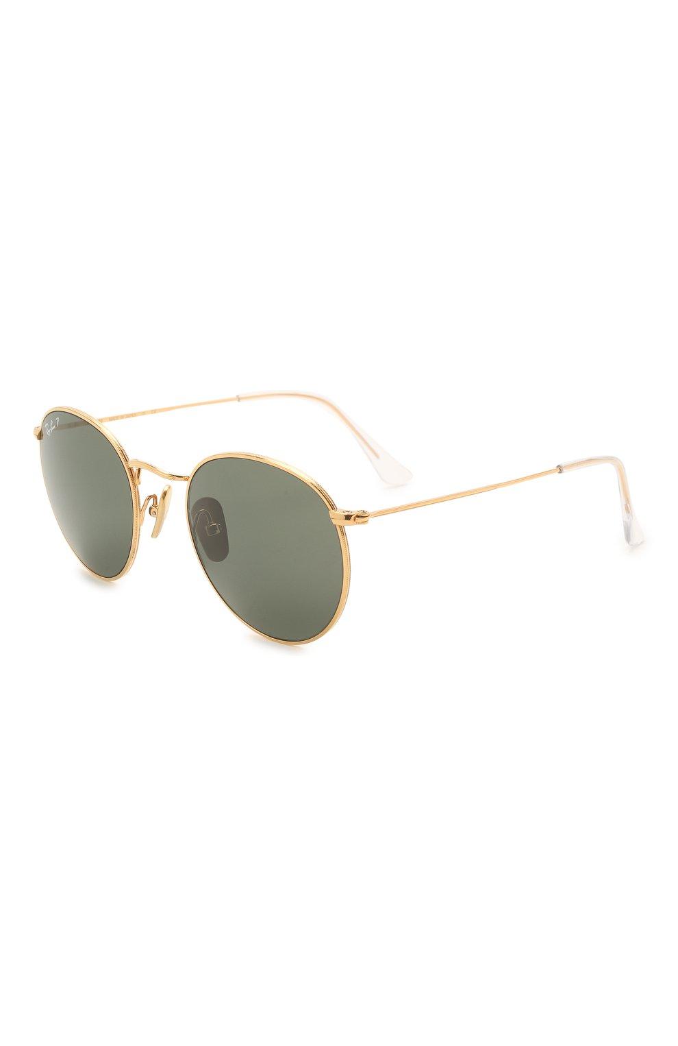 Женские солнцезащитные очки RAY-BAN золотого цвета, арт. 8247-921658 | Фото 1