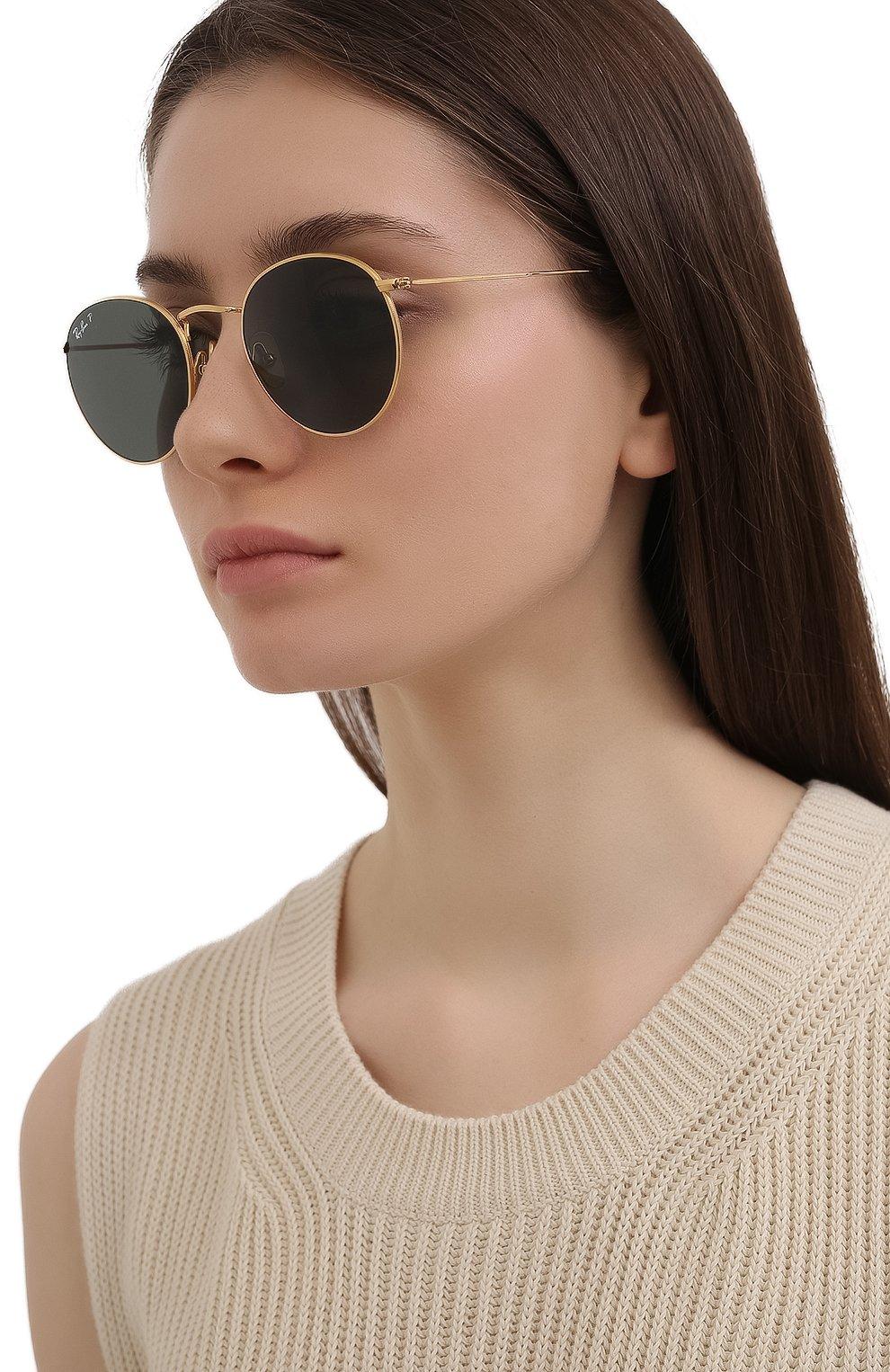 Женские солнцезащитные очки RAY-BAN золотого цвета, арт. 8247-921658 | Фото 2