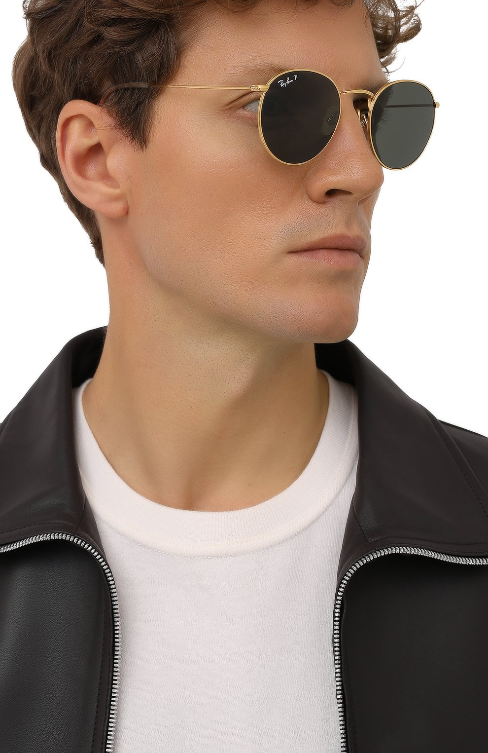 Женские солнцезащитные очки RAY-BAN золотого цвета, арт. 8247-921658 | Фото 3